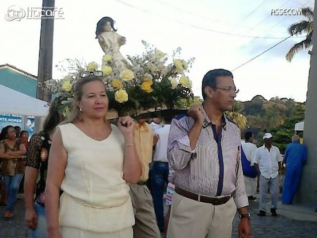 As homenagens a São Miguel encerraram com procissão e missa em Itacaré.
