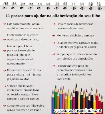 11 dicas para ajudar na alfabetização de seu filho