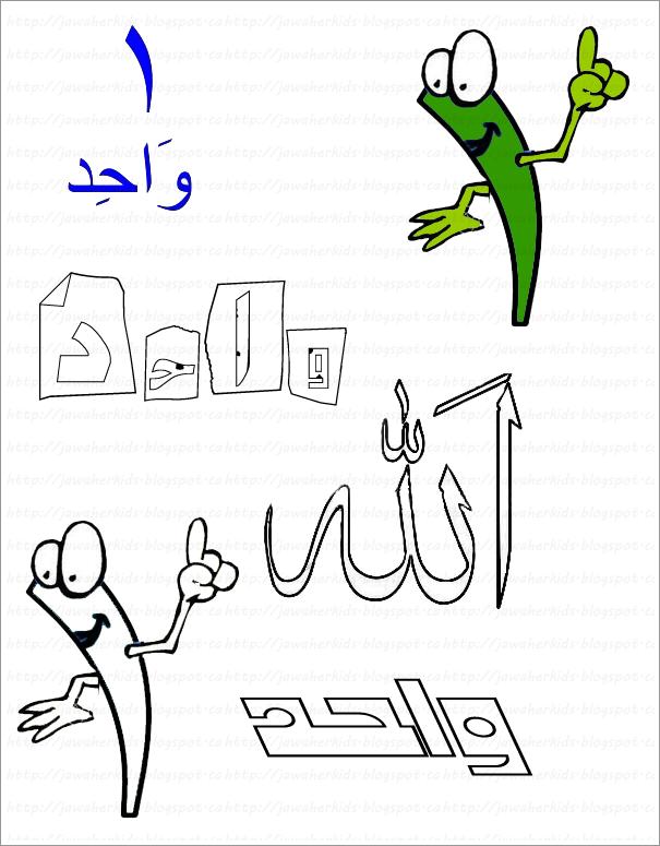 لبيب و لبيبة أوراق عمل الرقم واحد الأراقم العربية