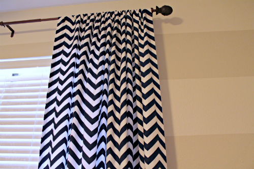 the junk house navy white chevron curtains
