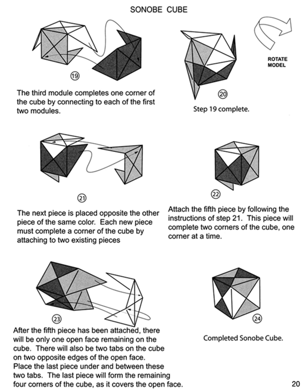 Todays Craft Modular Origami Sonobe Cube And Tetrahedron