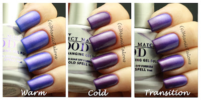LeChat Perfect Match Mood Gel Polish Frozen Cold Spell Swatch