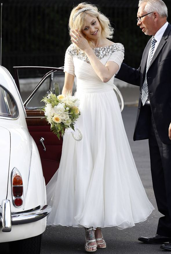 bridal wedding on vogue: Fearne Cotton Wedding Dresses Unveiled