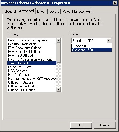 Core four: Configuring custom MTU size on vmxnet3