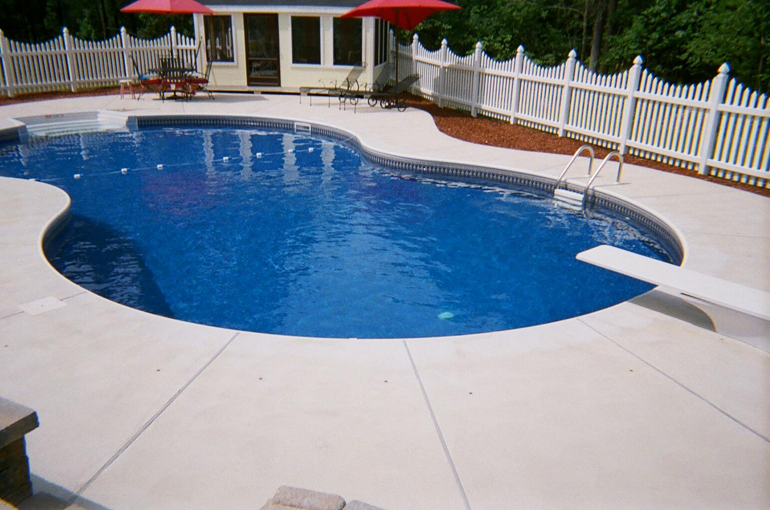 Beautiful inground pools wonderful for Inground indoor pool designs