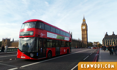 london big ben red bus
