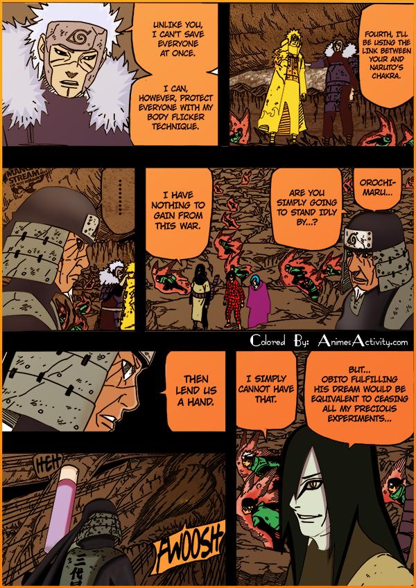 Colored Naruto Manga 650 Orochimaru and Hiruzen