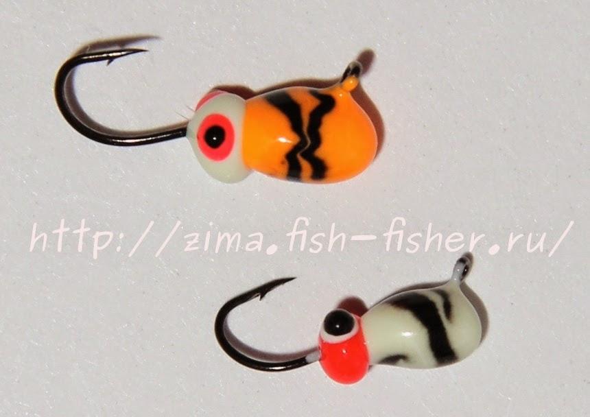 Зимняя рыбалка. Вольфрамовые мормышки цветные