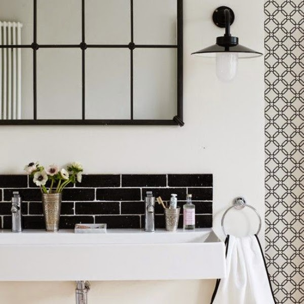 Brilliant  Llok Great With Interestisting Graphic Black And White Patterned Tiles