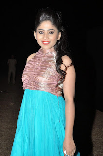 Actress Madhulagna Das Picture Gallery in Blue Dress  21