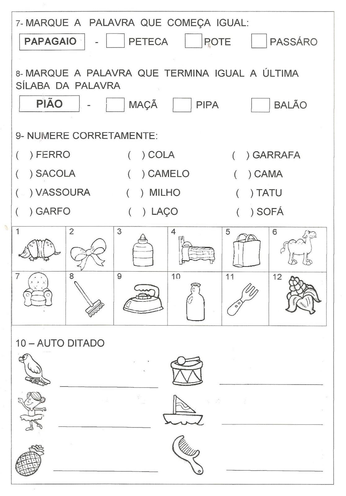 Preferência ALFABETIZAÇÃO SOLIDÁRIA: Avaliação Lingua Portuguesa 3º bimestre  ZQ29