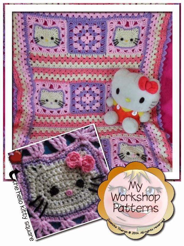 Crochet Pattern For Hello Kitty Baby Blanket : Crochet Hello Kitty Blanket images