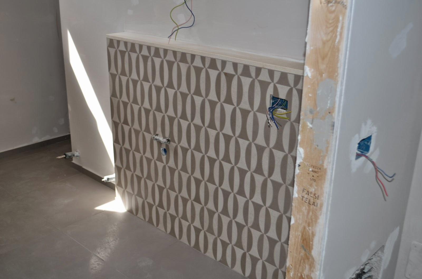 casa delle ginestre: terminata la posa di pavimenti e rivestimenti - Bagni Con Mutina
