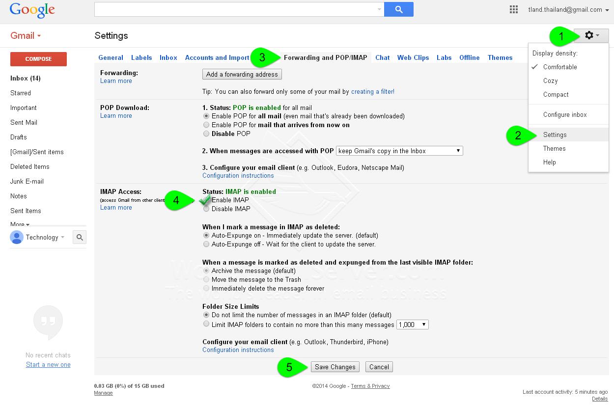 how to delete imap account gmail app