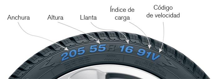 ser famoso en 8 días: qué diferencia hay entre neumáticos 205/55/16