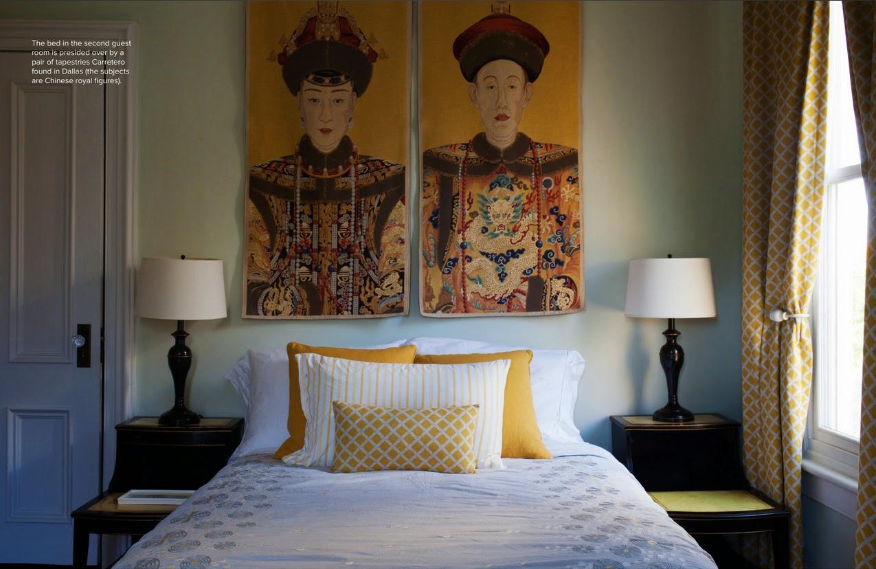 Sonnengelb und zartes Blaugrau - beste Farben für ein Schlafzimmer zum fröhlichen Aufstehen!