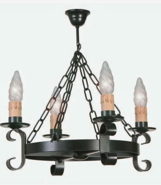lampara bodega, lampara rustica forja