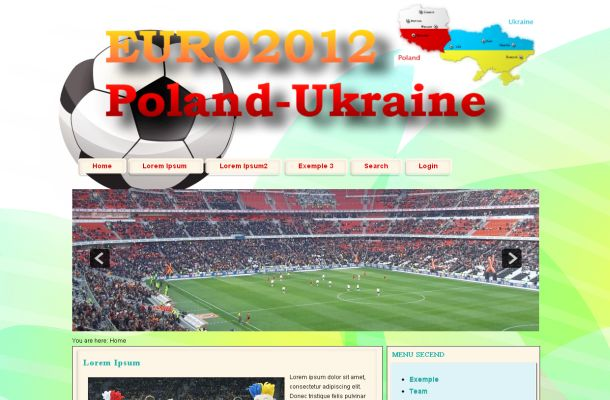 Soccer Football Cup Green Joomla Theme Template
