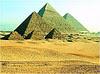foto do complexo das pirâmides de Gizé