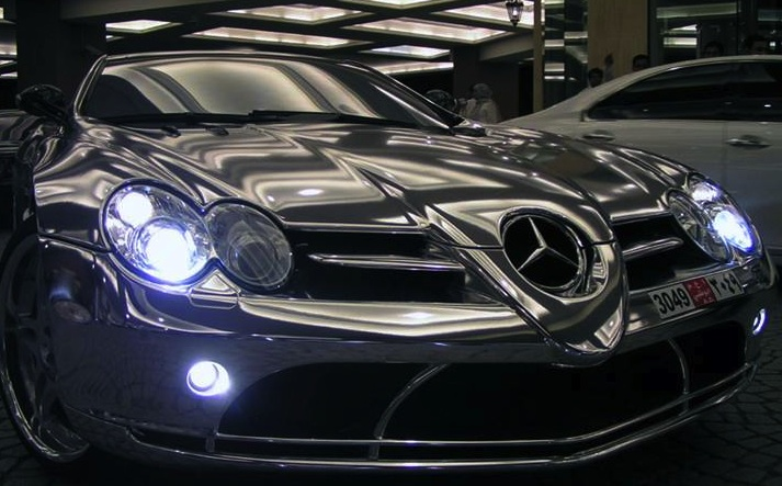 Pure white gold mercedes benz for Mercedes benz 18k gold ring