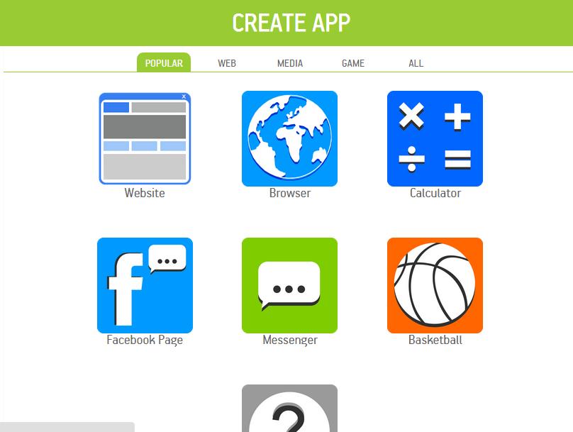 Buat Aplikasi Android Secara Instant