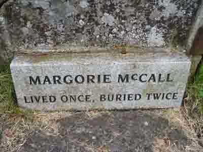 McCall, lived once, buried twice