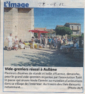vide grenier Aullène 19 août 2012