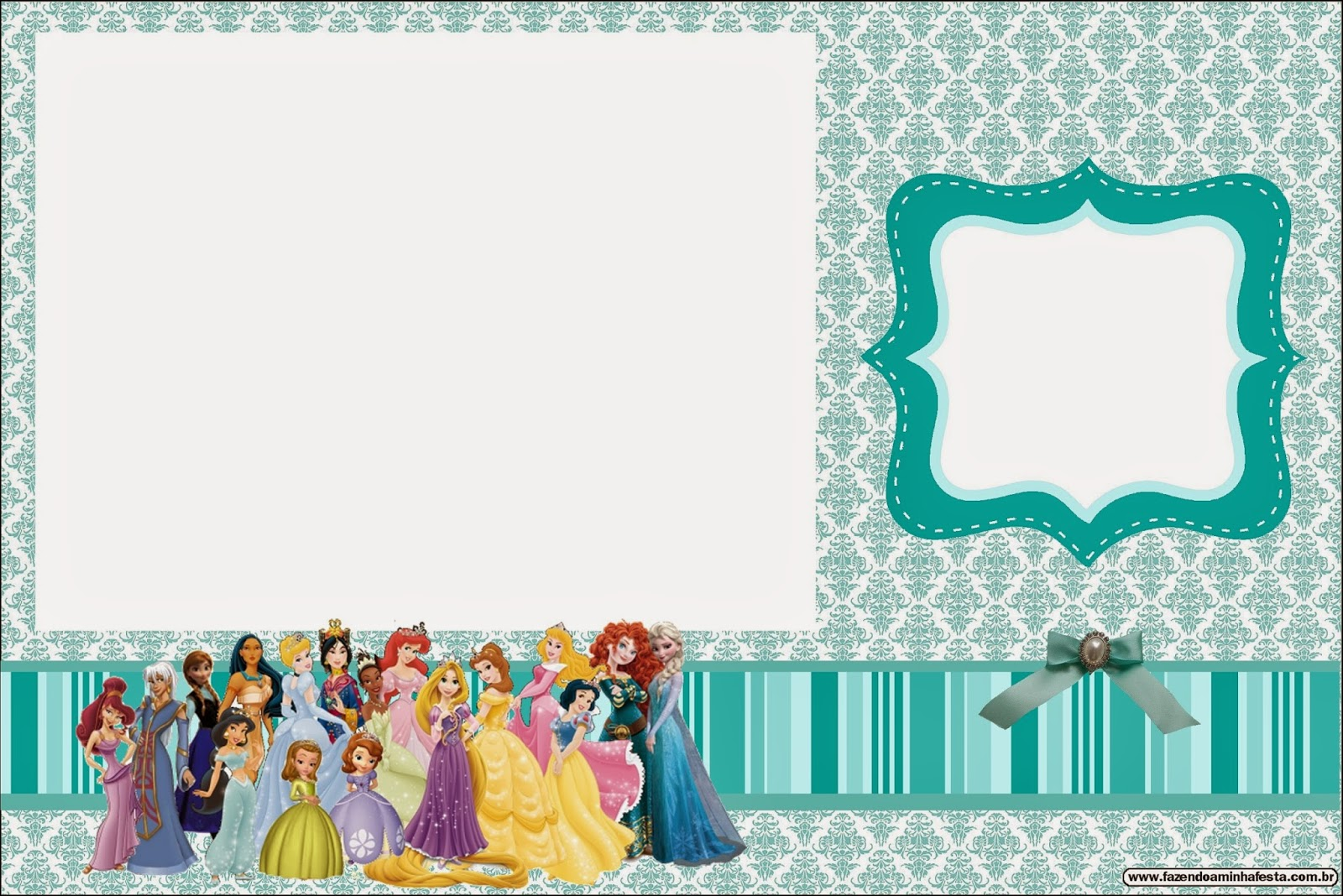 All Disney Princess Free Printable Invitations – Disney Princess Printable Birthday Cards