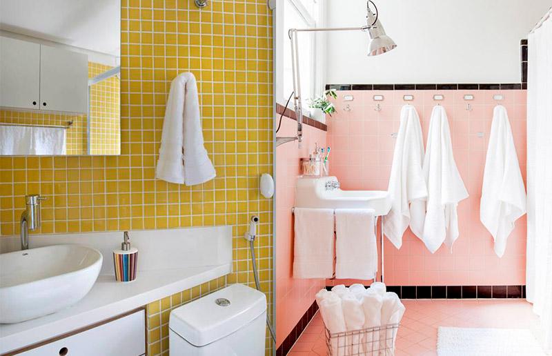Um banheiro rosa/amarelo para chamar de seu!