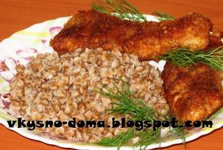 Рыбные палочки в панировке из орехов