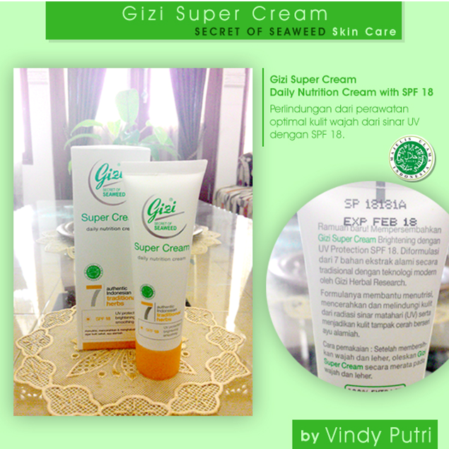 Gizi Super Cream Daily Nutrition Cream with SPF 18