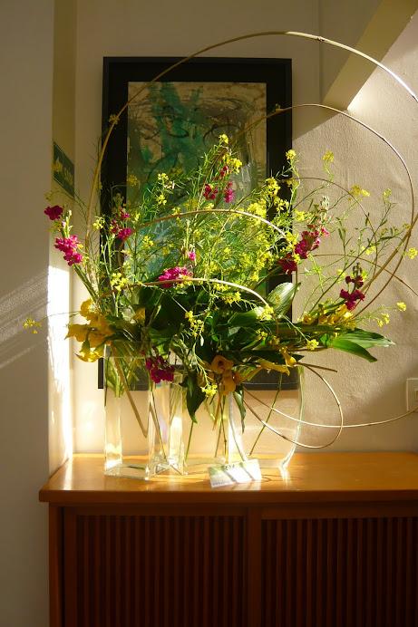 Exposição de Ikebana dia 15 de Junho