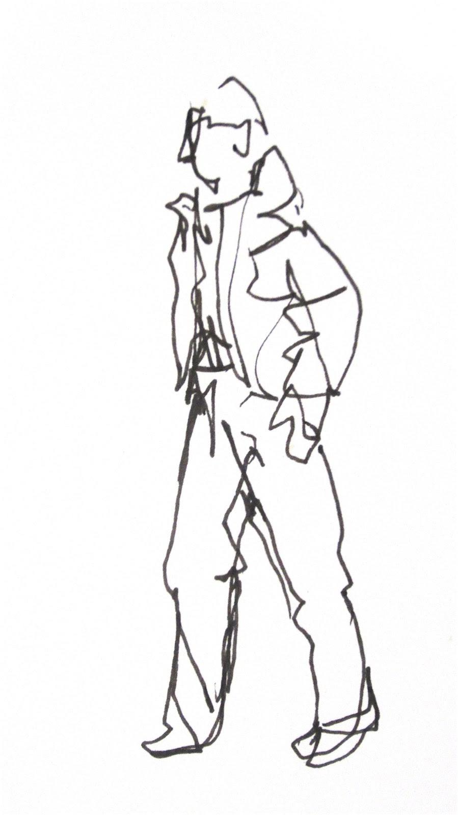 Contour Line Drawing Of Figures : Grace burney parsons continuous line contours l drawing