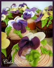 Pansy Cupcakes