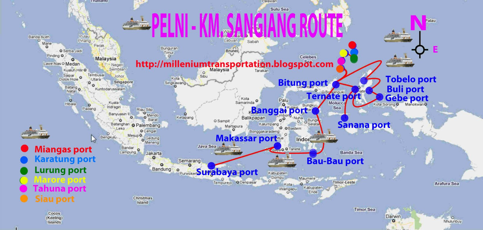 Download this Sangiang Ship Route picture