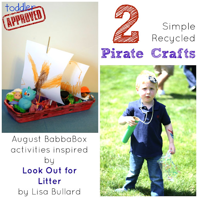 Toddler approved 2 simple recycled pirate crafts august for Easy recycling ideas