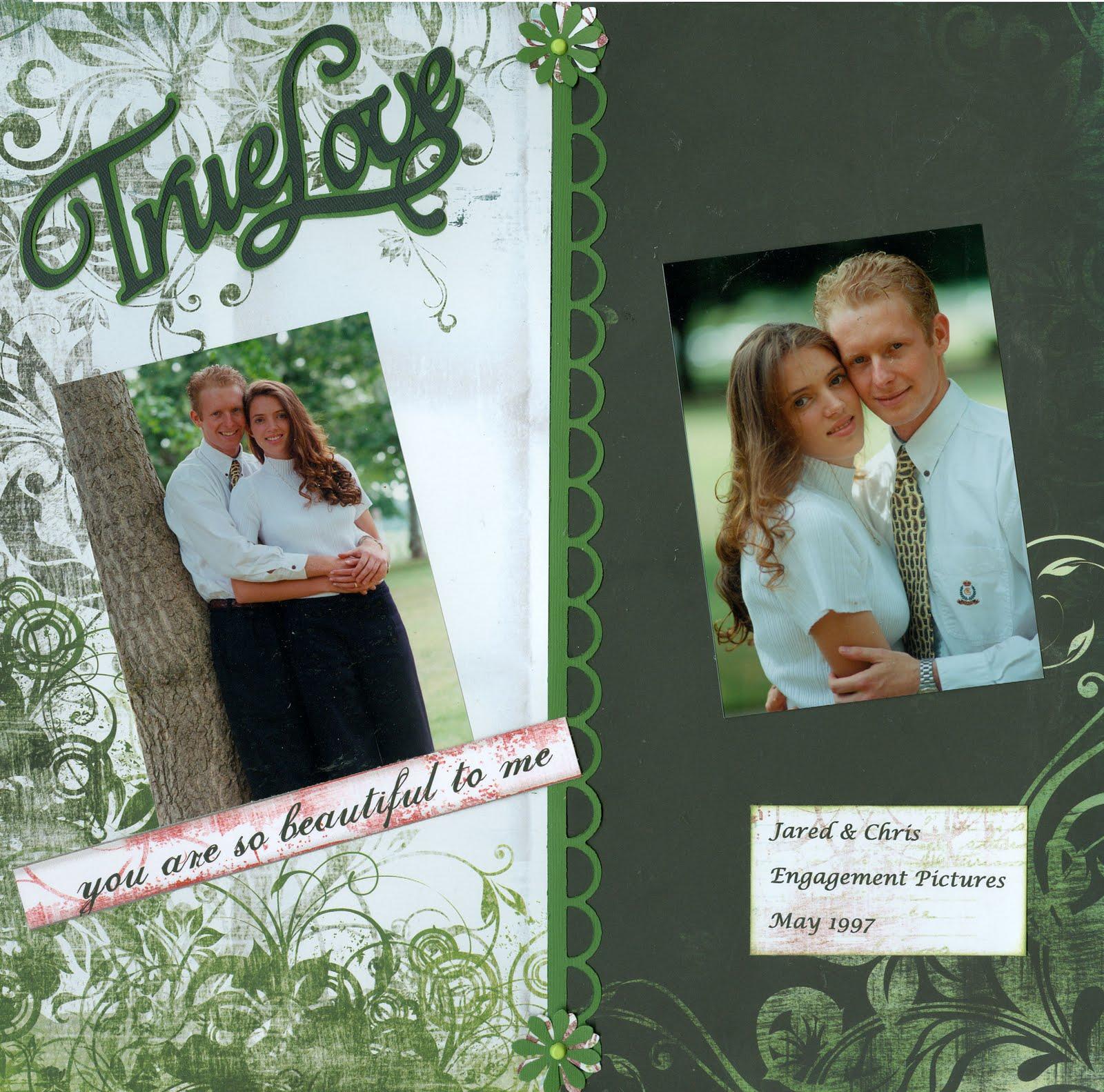 Scrapbook ideas engagement - Family Reunion Christine S Anniversary Scrapbook Pages