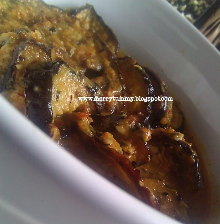 Merry Tummy: Achari Baingan/Brinjal/Eggplant With Pickle ...