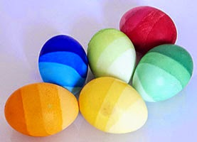 Striped colored eggs