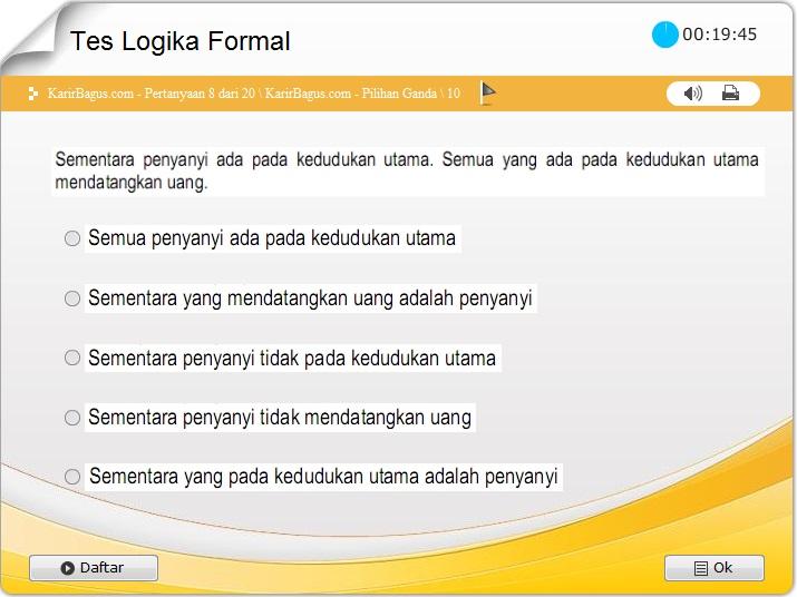 Contoh tes logika formal