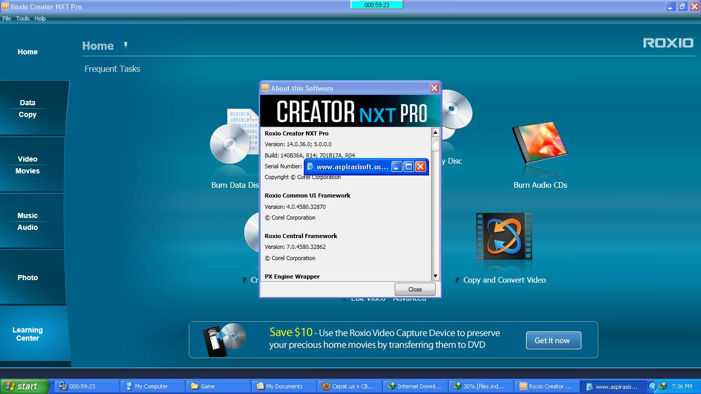 Roxio Creator NXT Pro 2013 Plus Addon Full Serial Number [Extabit]