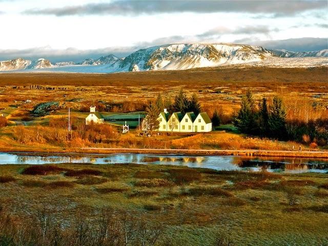 The stunning Thingvellir (Þingvellir) National Park in Iceland