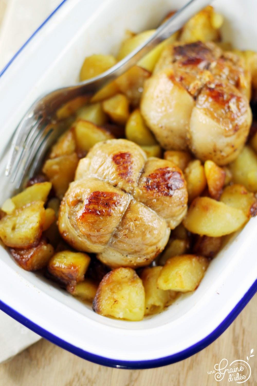 Paupiettes de Porc et Pommes de Terre Sautées - Une Graine d'Idée