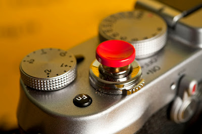 Dettaglio del pulsante di scatto della Fujifilm X100