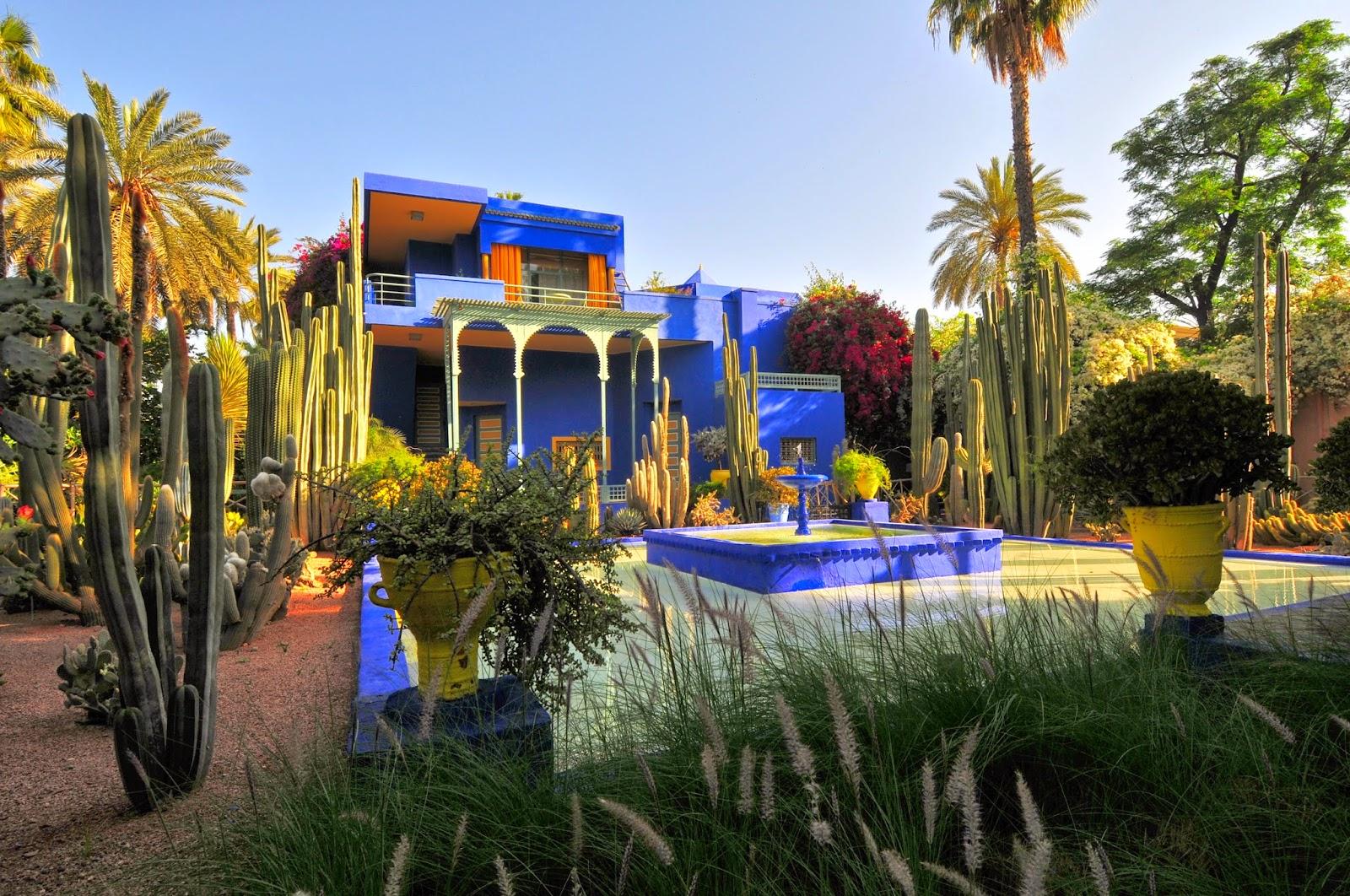 Celebrity homes yves saint laurent marrakech for Jardin majorelle