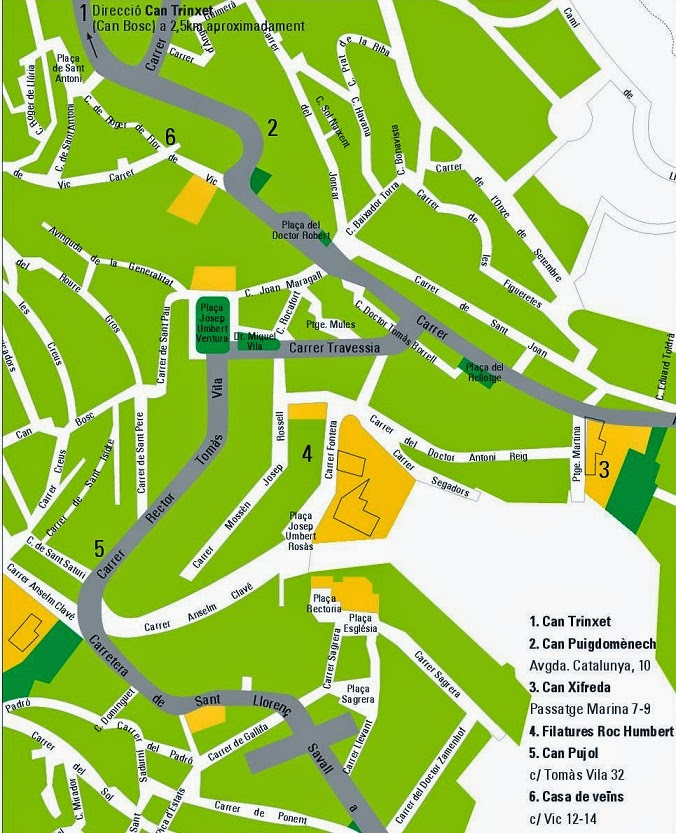 Ruta modernista Sant Feliu de Codines