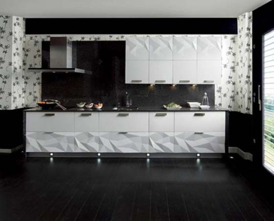 cuisine origami. Black Bedroom Furniture Sets. Home Design Ideas