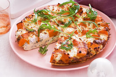 Pumpkin, goat's cheese and herb frittata Recipe