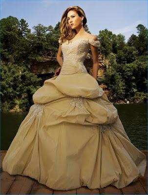 Gold Wedding Ball Gown