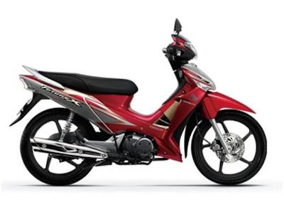 Honda Future X FI tem mới màu đỏ